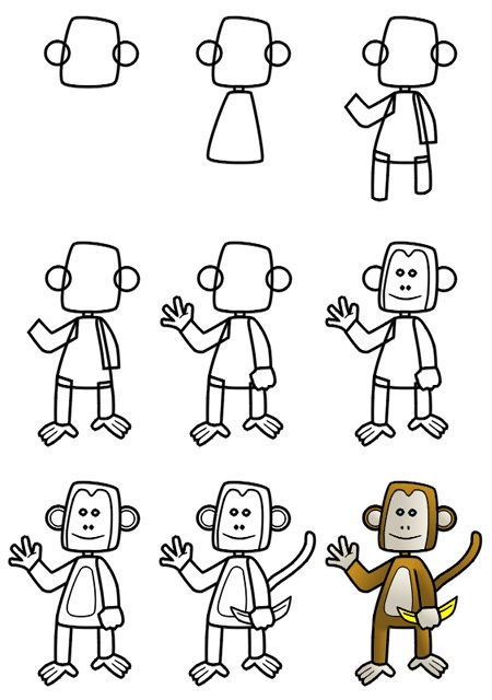 monkey drawing2