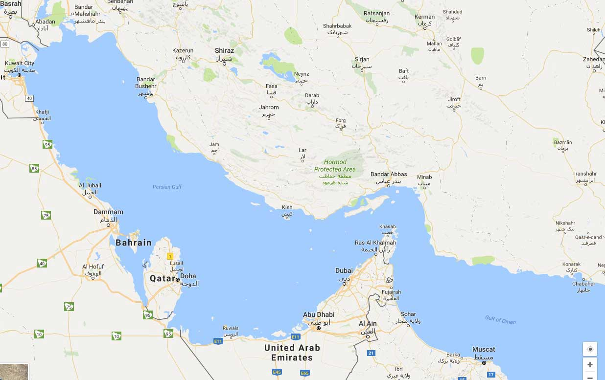 persian gulf map-site